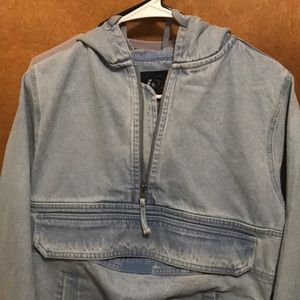 Long sleeve jean pull over